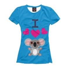 Женская футболка Я люблю коал