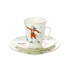 Чашка и два блюдца, форма Майская, рисунок Балет Щелкунчик
