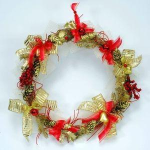 Новогоднее украшение Красный венок