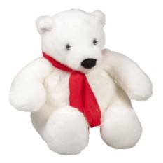 Игрушка Белый медведь с красным шарфом