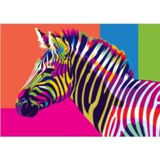 Картина по номерам «Радужная зебра»