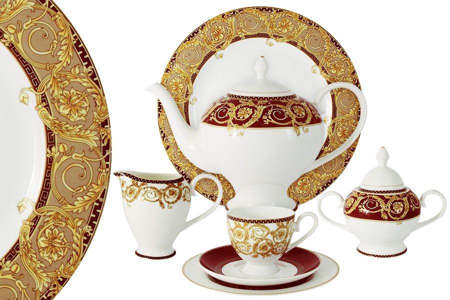 Чайный фарфоровый сервиз из 40 предметов Венеция