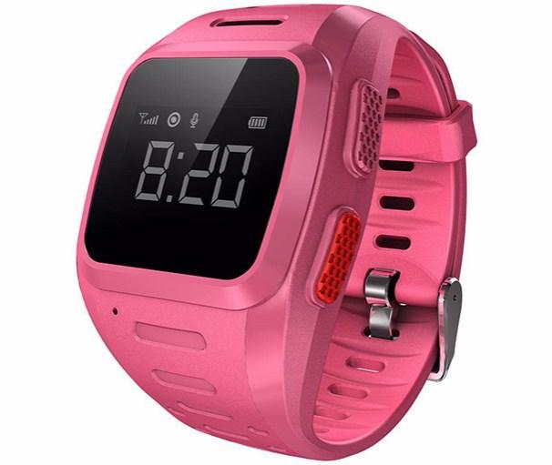 Розовые часы-телефон с gps для детей от Wochi