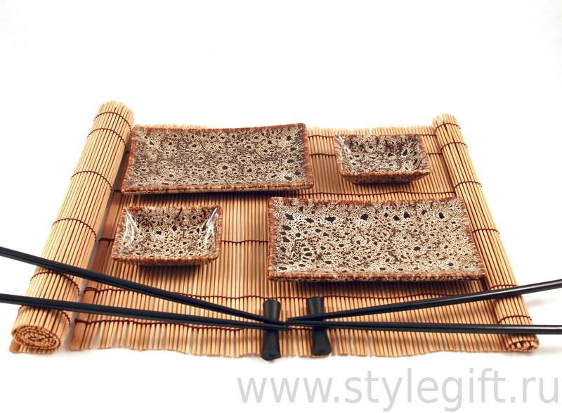 Набор для суши коричневого цвета
