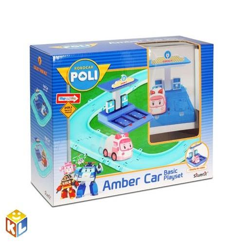 Набор Маленький трек с умной машинкой Эмбер Robocar Poli