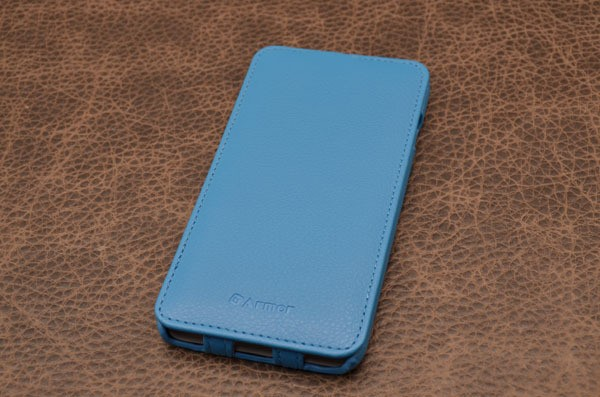 Чехол для iPhone 6 Plus «Лазурный Берег» (синий, личи)