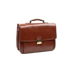 Коричневый кожаный портфель VIP Collection