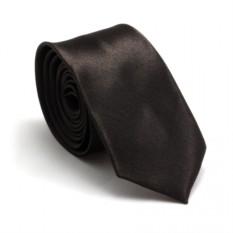 Узкий галстук (шоколадный)