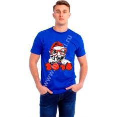 Мужская футболка Собака в очках, 2018