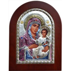 Икона в серебряном окладе Иерусалимская Богоматерь