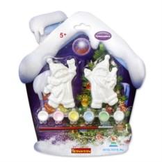 Набор для росписи елочных украшений «Снеговичок и Дед Мороз»