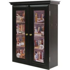 Декоративный настенный шкафчик Лавка букиниста венге