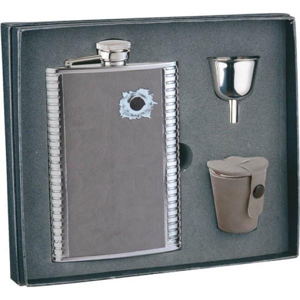 Подарочный набор из фляги со стаканчиками и воронкой S.Quire