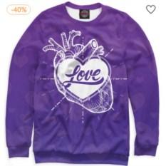 Свитшот Любовь в сердце