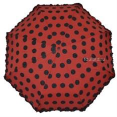 Красный зонт с черными горошинами Ferre Milano
