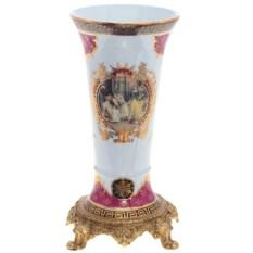 Фарфоровая подарочная ваза (высота 25 см)
