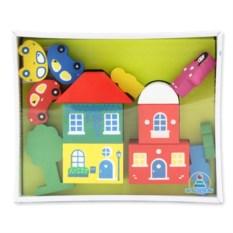Разноцветный конструктор «Городок», 14 деталей