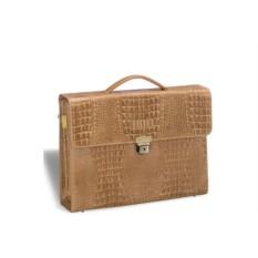 Женский кожаный портфель Brialdi Blanes песочного цвета