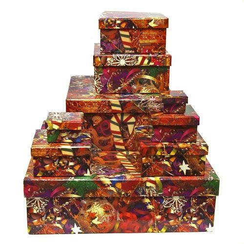 Коробка подарочная новогодняя в ассортименте