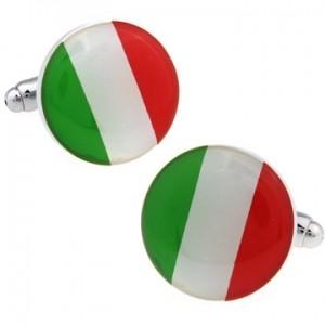 Запонки Флаг Италии