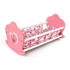 Детская деревянная кукольная кроватка-люлька Корона