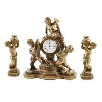 Часы «Путти с подсвечниками»