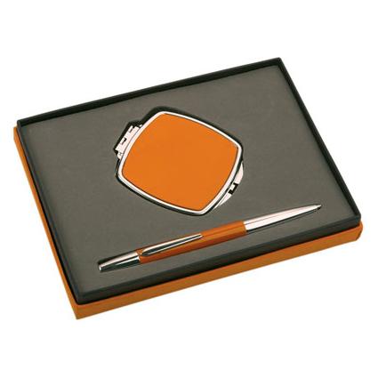 Набор: ручка шариковая, зеркало