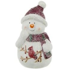 Фигурка Снеговик в шапке и шарфе