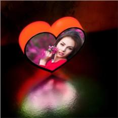 Световое сердце с вашими вотографиями