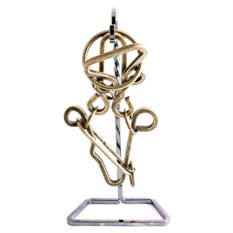 Металлическая головоломка с латунью Волшебные кольца