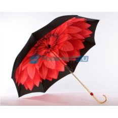Зонт-трость Pasotti Nero Georgin Rosso Oro