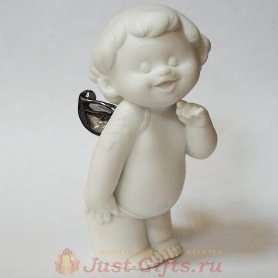Статуэтка Улыбающийся ангел с платиновыми крыльями
