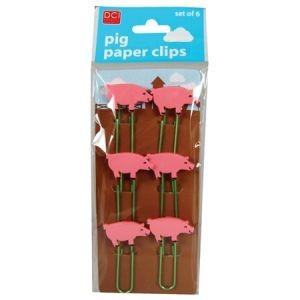 Зажимы для бумаги «Свинка»