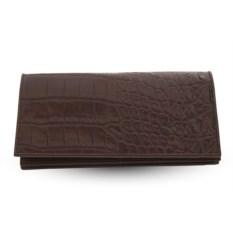 Коричневое портмоне из кожи крокодила