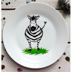 Фарфоровая тарелка Зебрушка