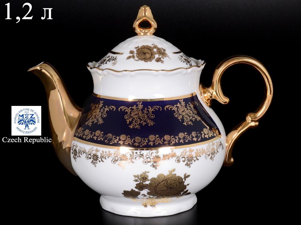 Чайник заварочный Офелия Золотая роза, кобальт