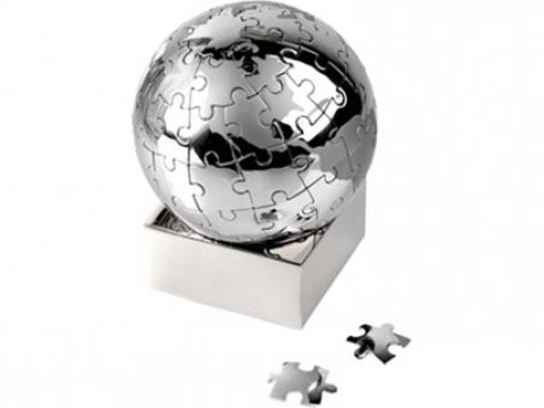 Головоломка «Земной шар» в виде пазлов на магните