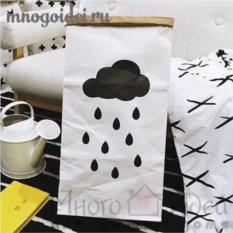 Эко-мешок для игрушек из крафт бумаги Летний дождик