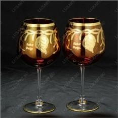 Набор из 2 свадебных бокалов с золотым декором