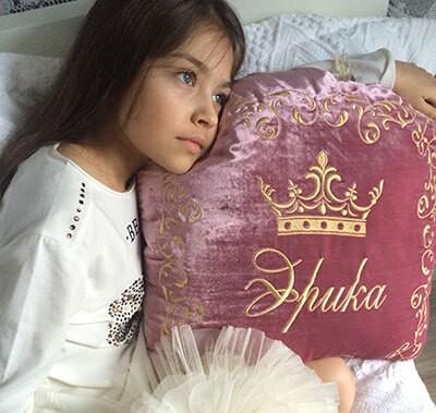 Именная подушка для принцесс