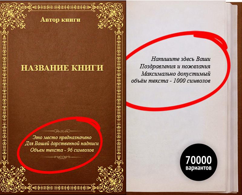 Книги с персонализированной обложкой и поздравлением