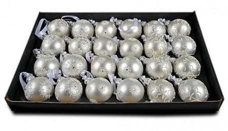 Набор шаров Роял Делюкс Три Орнамента, серебряный