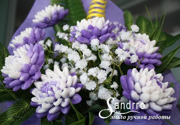 Цветы из мыла Хризантемы