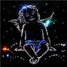 Настенное панно с кристаллами  Ангел