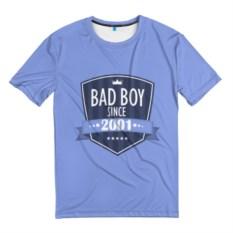 Мужская 3D-футболка Плохой мальчик с 2001