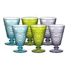 Набор бокалов из цветного стекла Queen