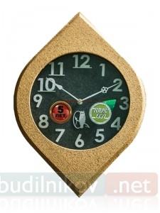 Настенные деревянные часы, 40 см, оригинальной формы
