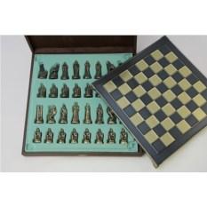 Металлический шахматный набор Троянская война