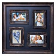 Настенный коллаж-фоторамка Санита квадро коричневая