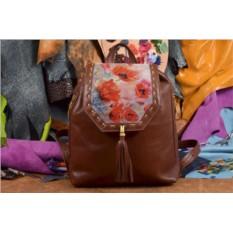 Женский рюкзак с принтом Маковое поле